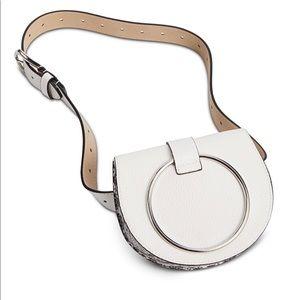 Steve Madden pebbled leather convertible belt bag